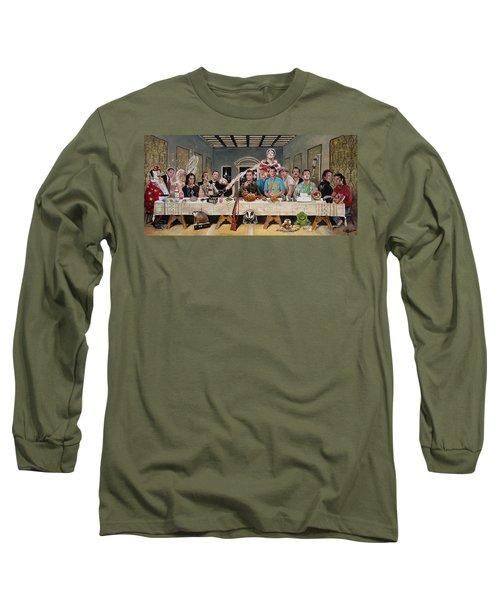 Bills Last Supper Long Sleeve T-Shirt by Tom Carlton