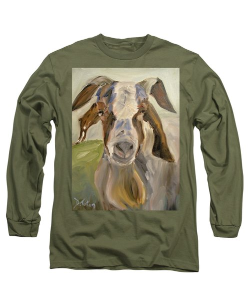 Long Sleeve T-Shirt featuring the painting Billy by Donna Tuten