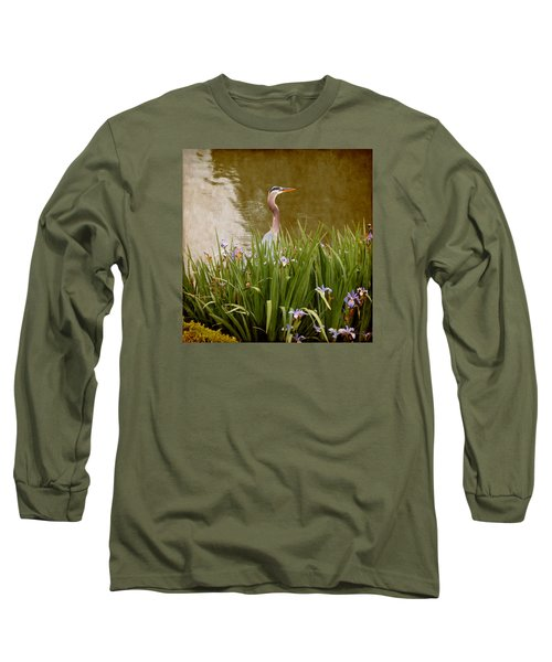 Bird In The Water Long Sleeve T-Shirt by Milena Ilieva