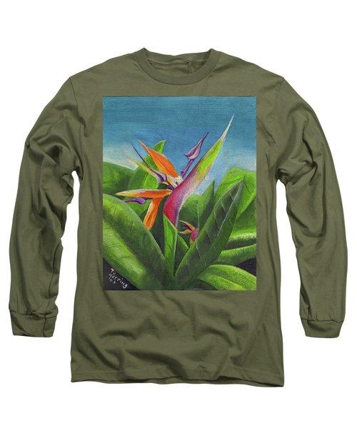 Hawaiian Bird Of Paradise Long Sleeve T-Shirt