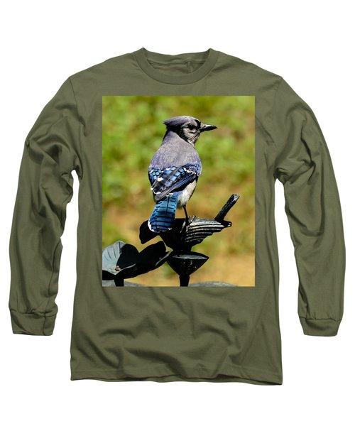 Bird On A Bird Long Sleeve T-Shirt by Robert L Jackson