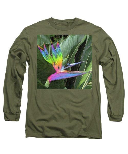 Long Sleeve T-Shirt featuring the photograph Bird Ow  Paradise by Suzette Kallen
