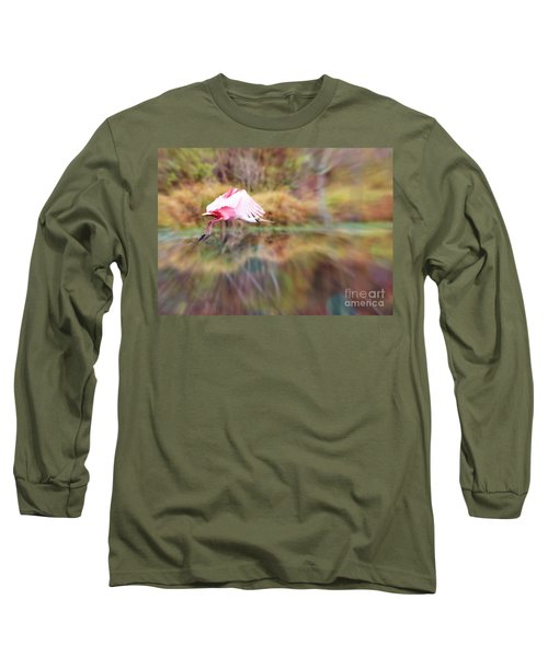 Birds Eye View Long Sleeve T-Shirt by Carol Groenen