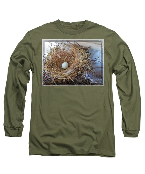 Long Sleeve T-Shirt featuring the photograph Birds Nest - Perfect Home by Ella Kaye Dickey
