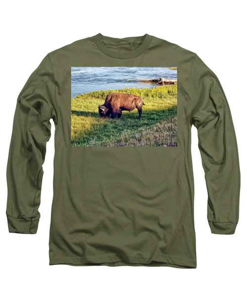 Long Sleeve T-Shirt featuring the photograph Bison 4 by Dawn Eshelman