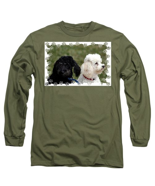 Black And White Long Sleeve T-Shirt by Ellen O'Reilly