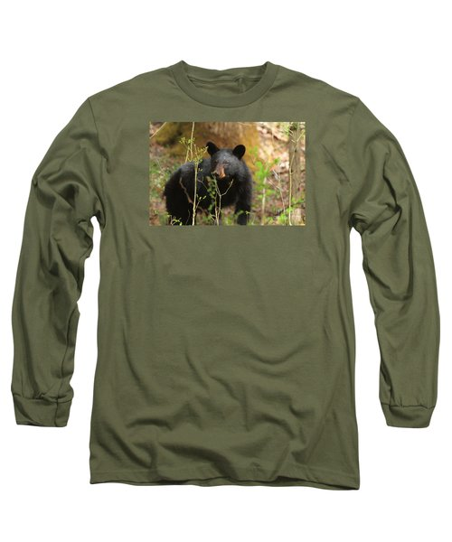 Long Sleeve T-Shirt featuring the photograph Black Bear by Geraldine DeBoer