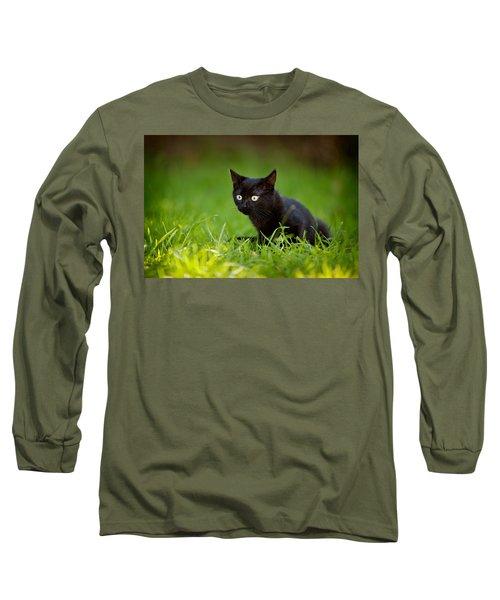 Black Kitten Long Sleeve T-Shirt