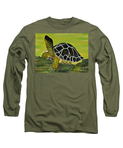 Black Turtle. Inspirations Collection. Long Sleeve T-Shirt by Oksana Semenchenko