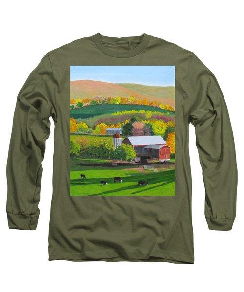 Blazing Autumn Color Long Sleeve T-Shirt