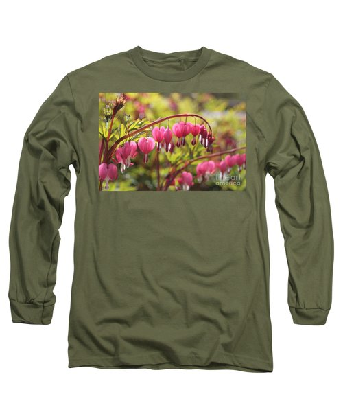 Bleeding Heart Long Sleeve T-Shirt by Barbara Bardzik