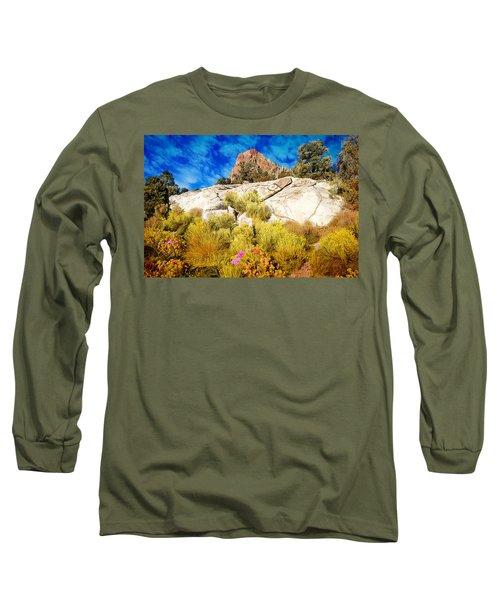 Blooming Nevada Desert Near Ely Long Sleeve T-Shirt