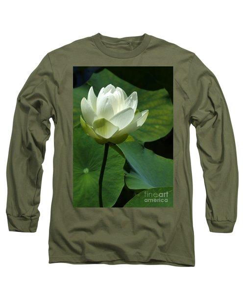 Blooming White Lotus Long Sleeve T-Shirt