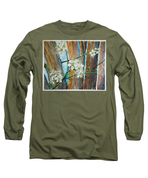 Blooms Of The Cleaveland Pear Long Sleeve T-Shirt