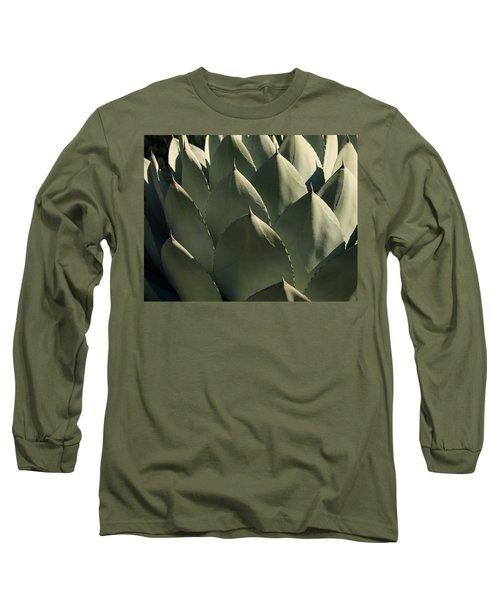 Blue Aloe Long Sleeve T-Shirt by Ellen Henneke