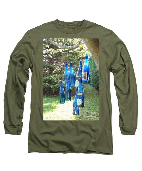 Blue Bottle Tree Long Sleeve T-Shirt by Jackie Mueller-Jones