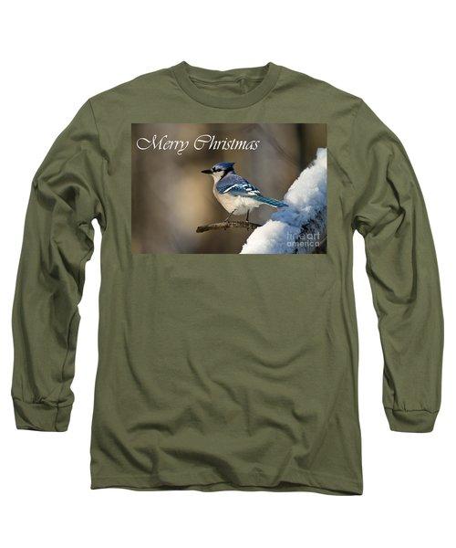 Blue Jay Christmas Card 2 Long Sleeve T-Shirt