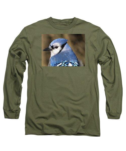 Blue Jay Profile Long Sleeve T-Shirt by MTBobbins Photography