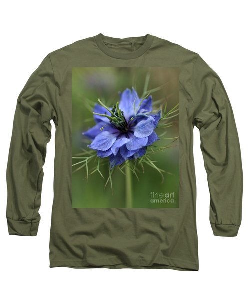 Long Sleeve T-Shirt featuring the photograph Blue Love by Joy Watson