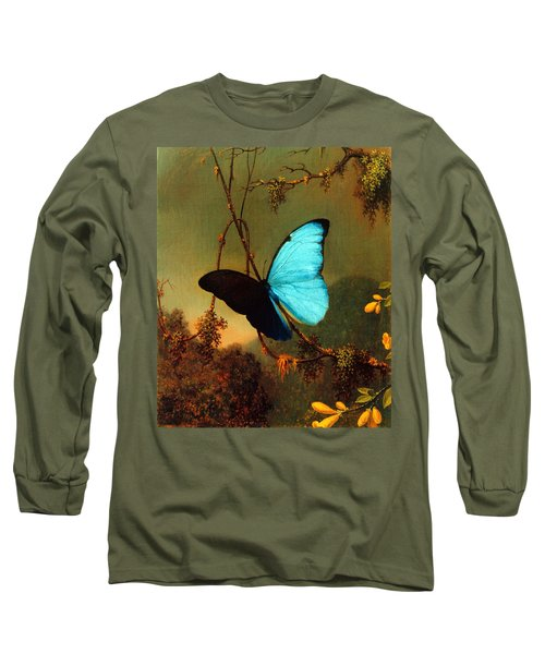 Blue Morpho Butterfly Long Sleeve T-Shirt