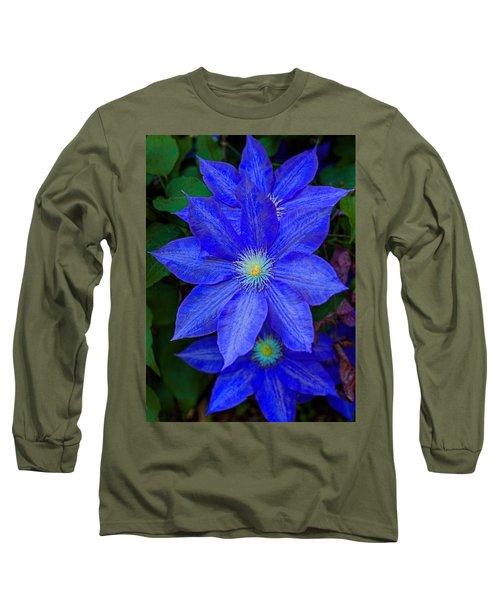 Blue On Blue Long Sleeve T-Shirt
