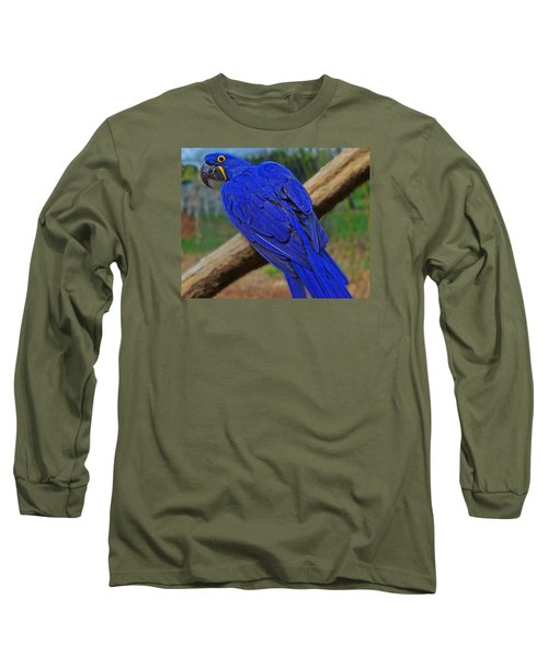 Long Sleeve T-Shirt featuring the photograph Blue Parrot by Jack Moskovita