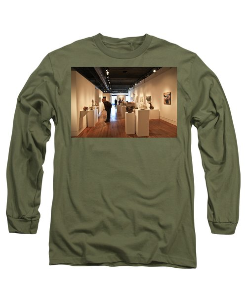 Blue Spiral Gallery In Asheville Long Sleeve T-Shirt