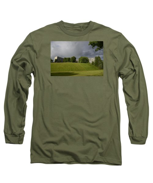 Long Sleeve T-Shirt featuring the photograph Blue Visions 3 by Teo SITCHET-KANDA