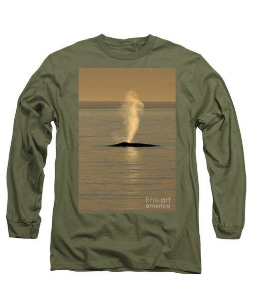Long Sleeve T-Shirt featuring the photograph Blue Whale At Sunset In Monterey Bay California  2013 by California Views Mr Pat Hathaway Archives
