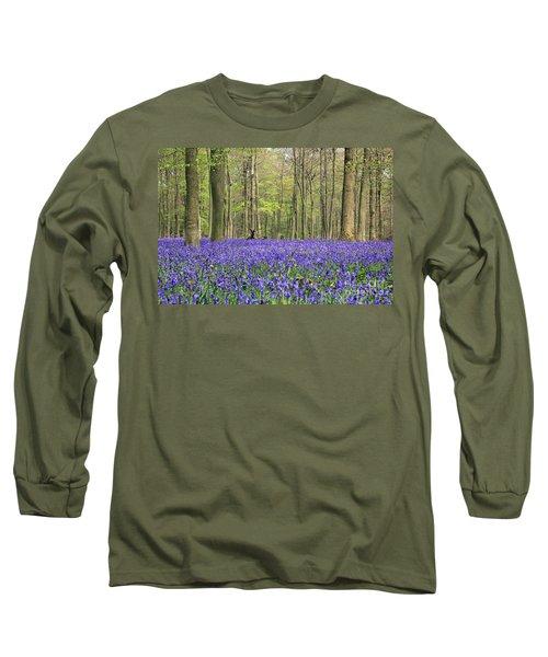 Bluebells Surrey England Uk Long Sleeve T-Shirt