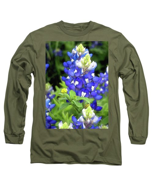 Bluebonnets Blooming Long Sleeve T-Shirt by Stephen Anderson