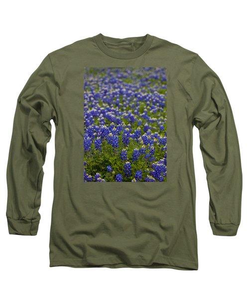 Bluebonnets Forever Long Sleeve T-Shirt by Mark Alder