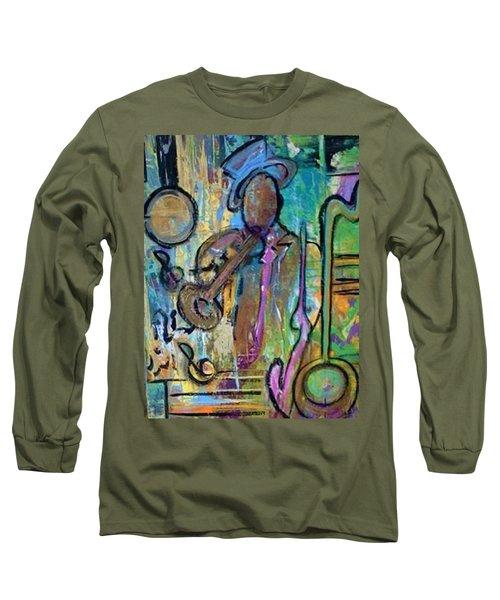 Blues Jazz Club Series Long Sleeve T-Shirt by Kelly Turner
