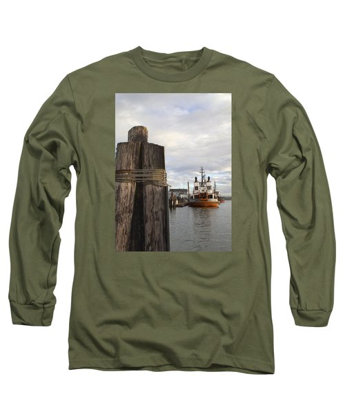 Long Sleeve T-Shirt featuring the photograph View From The Pilings by Suzy Piatt