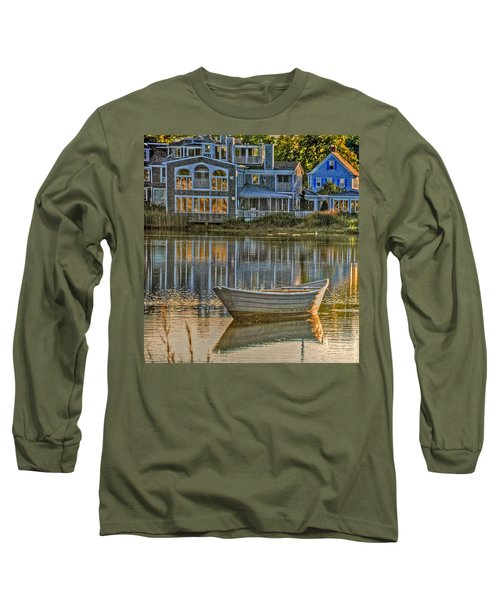 Boat In Late Afternoon Long Sleeve T-Shirt