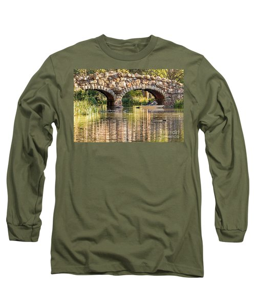 Long Sleeve T-Shirt featuring the photograph Boaters Under The Bridge by Kate Brown