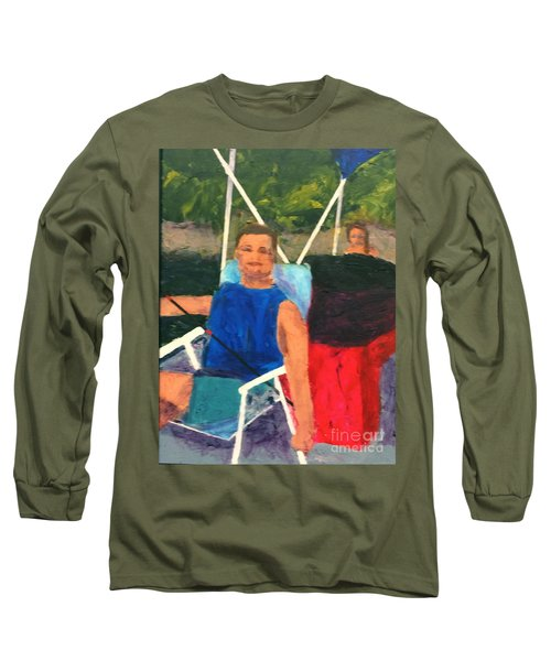 Long Sleeve T-Shirt featuring the painting Boating by Donald J Ryker III