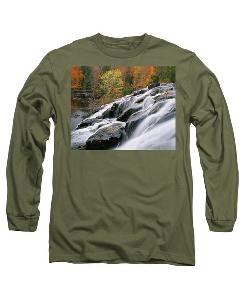 Bond Falls Upper Peninsula Michigan Long Sleeve T-Shirt