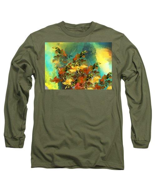 Long Sleeve T-Shirt featuring the digital art Botanical Fantasy 090914 by David Lane