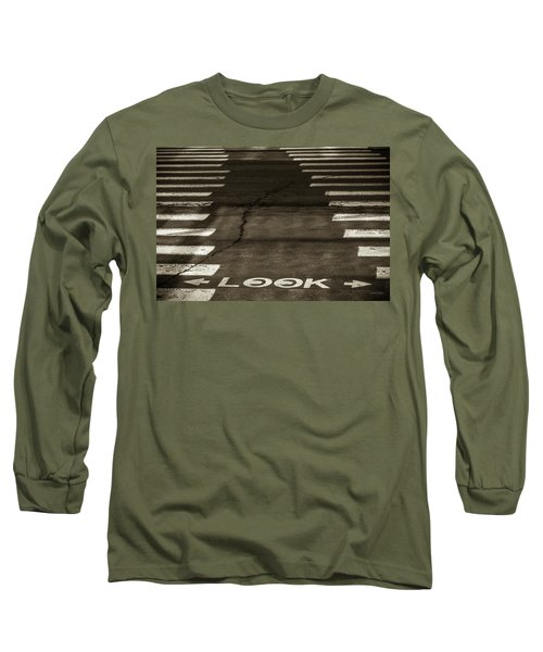 Both Ways - Urban Abstracts Long Sleeve T-Shirt by Steven Milner