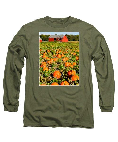 Bountiful Crop Long Sleeve T-Shirt by Kathy Barney