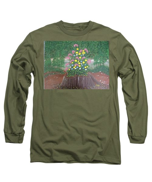 Bouquet On A Stump Long Sleeve T-Shirt