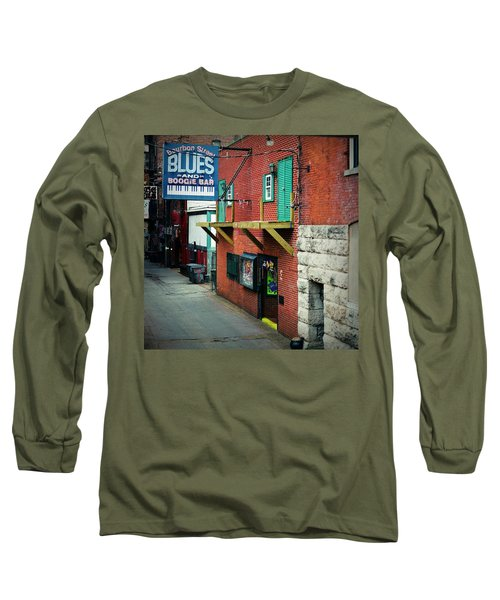 Bourbon Street Blues Long Sleeve T-Shirt by Linda Unger