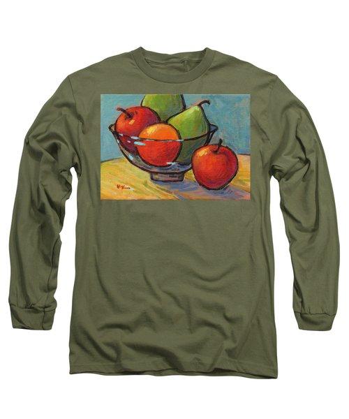 Bowl Of Fruit Long Sleeve T-Shirt