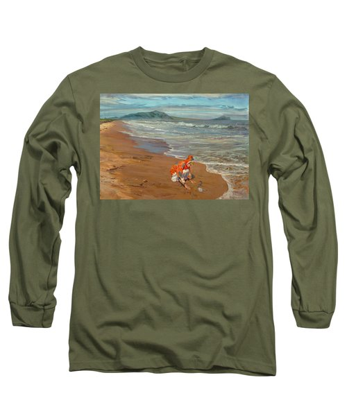 Boy At The Seashore Long Sleeve T-Shirt