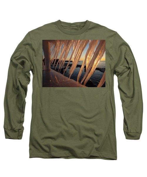 Break Wall Winter Sunrise Long Sleeve T-Shirt