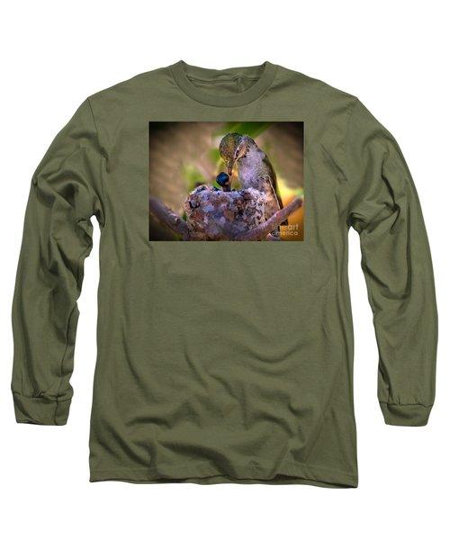 Breakfast Long Sleeve T-Shirt by Robert Bales