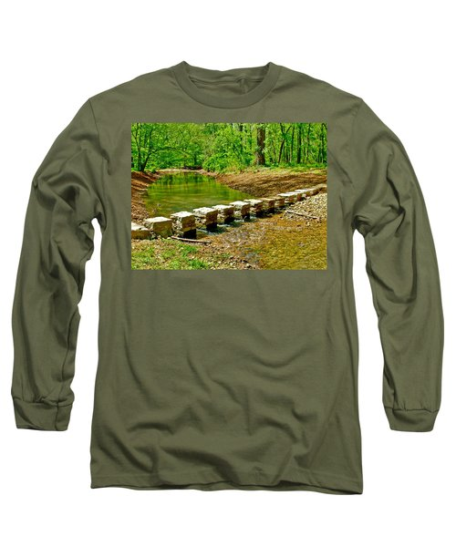 Bridge Across Colbert Creek At Mile 330 Of Natchez Trace Parkway-alabama Long Sleeve T-Shirt by Ruth Hager