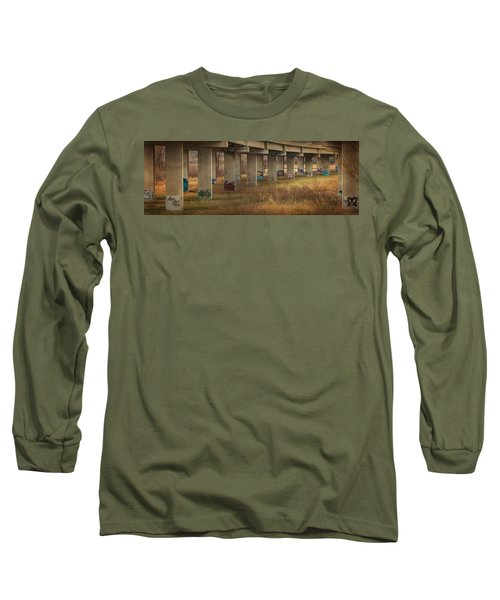 Bridge Graffiti Long Sleeve T-Shirt by Patti Deters