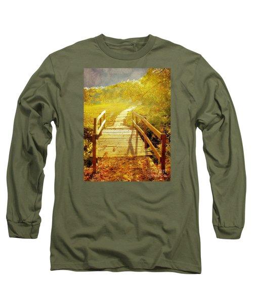 Bridge Into Autumn Long Sleeve T-Shirt by Janette Boyd